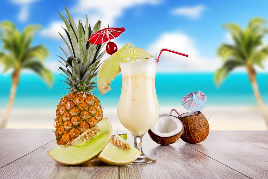 recettes minceur-Ananas-eau de coco