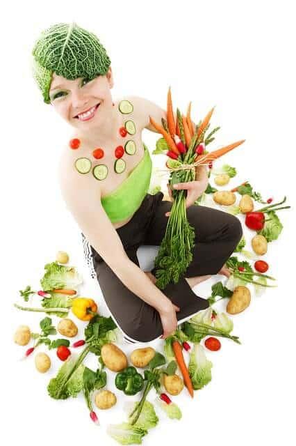 femme legumes
