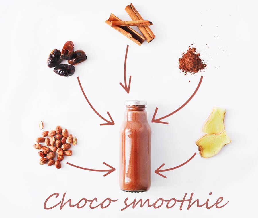 recettes minceur-choco-smoothie