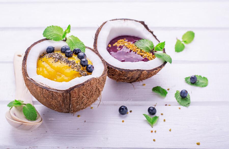 Recettes minceur- crème glacée noix de coco