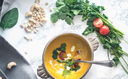 Soupe de patate douce aux épices