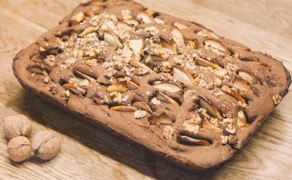 pain aux noix et aux pommes sans gluten
