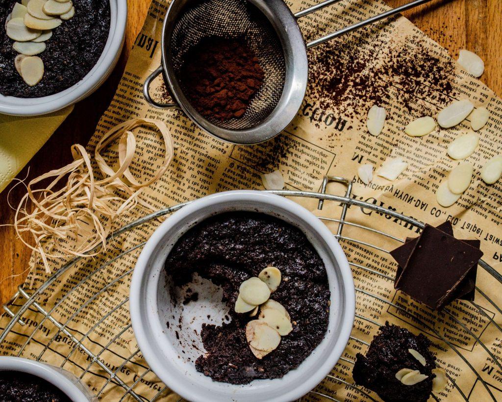 Dessert vegan chocolat-choco houmous amande