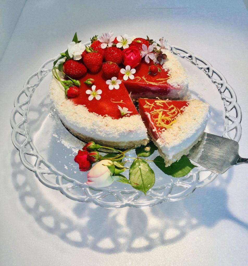 Tarte aux fraises et lait de coco