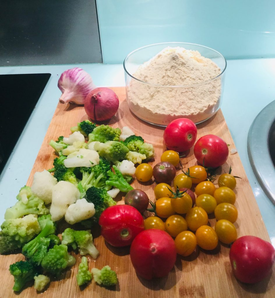 quiche de légumes vegan